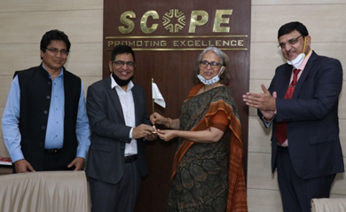 SAIL Chief Smt. Soma Mondal takes over as Chairperson, SCOPE